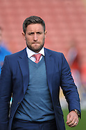 Lee Johnson manager of Barnsley during the Sky Bet League 1 match at Oakwell, Barnsley against Shrewsbury Town<br /> Picture by Graham Crowther/Focus Images Ltd +44 7763 140036<br /> 05/09/2015