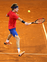 Andrey Rublev from Russia during a tennis match against the <br /> Carlos Berlocq from Argentina in 1st round of singles at Plava Laguna Croatia Open Umag, on July 18, 2017 in Stadium Gorana Ivanisevica, Umag, Croatia. Photo by Urban Urbanc / Sportida