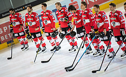 12.02.2016, Olympiaworld, Innsbruck, AUT, Euro Ice Hockey Challenge, Österreich vs Slowakei, im Bild das östterreichische Nationalteam // the austrian national team during the Euro Icehockey Challenge Match between Austria and Slovakia at the Olympiaworld in Innsbruck, Austria on 2016/02/12. EXPA Pictures © 2016, PhotoCredit: EXPA/ Jakob Gruber