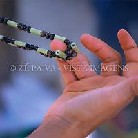 Mão segurando sementes, Imarui, Santa Catarina; Brasil. foto de Ze Paiva/Vista Imagens