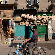 Cairo bread sellers EG143  vendeur de pains