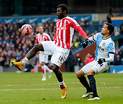Stoke City's Mame Biram Diouf controls the ball -  Photo mandatory by-line: Matt McNulty/JMP - Mobile: 07966 386802 - 14/02/2015 - SPORT - Football - Blackburn - Ewood Park - Blackburn Rovers v Stoke City - FA Cup - Fifth Round