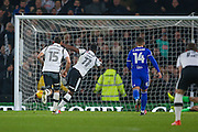 Derby County forward Darren Bent (11) scores a penalty goal  to make the score 1-0 during the EFL Sky Bet Championship match between Derby County and Birmingham City at the iPro Stadium, Derby, England on 27 December 2016. Photo by Simon Davies.