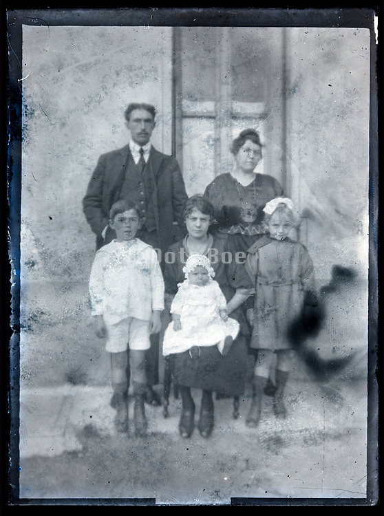 deteriorating family portrait France circa 1920s