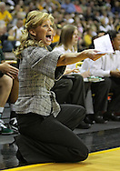 January 27 2010: Michigan St. head coach Suzy Merchant yells during the first half of an NCAA women's college basketball game at Carver-Hawkeye Arena in Iowa City, Iowa on January 27, 2010. Iowa defeated Michigan State 66-64.