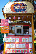 The Tokyo Crepes roadside stand in Folly Beach, South Carolina.