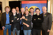 Presentatie Kuifje - De Zonnetempel - De Musical in het Wereldmuseum in Rotterdam.<br /> <br /> Op de foto:<br /> <br />  v.l.n.r.: Seth Gaaikema , Jelle Cleymans , Richard Spijkers , Miranda van Kralingen , Walter Baele , Frank van Laecke , Dirk Cohen , Dirk Brosse , Henk Poort