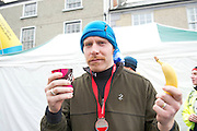 09/11/2013  Martin Maloney aka Eddie Durkan from the Hardy Bucks  after finishing the Westport Sea2Summit &ndash; one of the country&rsquo;s leading Adventure Races <br /> The Athletes competed  across an intense route of road running, mountain cycling and the challenging uphill run of Croagh Patrick and finishing with a sea dash and obstacle challenge before finishing in the middle of Westport town.<br /> . Photo:Andrew Downes