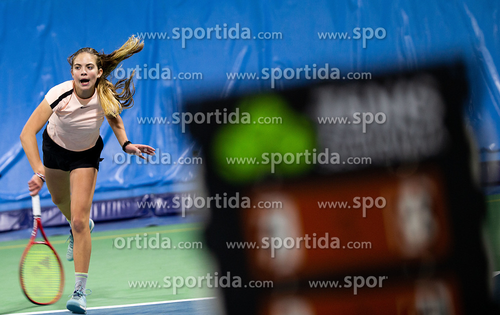 Ana Lanisek in action during Slovenian National Tennis Championship 2019, on December 21, 2019 in Medvode, Slovenia. Photo by Vid Ponikvar/ Sportida
