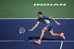 Milos Raonic (CAN) during his semi final round match at the 2018 Indian Wells Masters 1000 at Indian Wells Tennis Garden, California, USA, on March, 16, 2019. Photo by Corinne Dubreuil/ABACAPRESS.COM