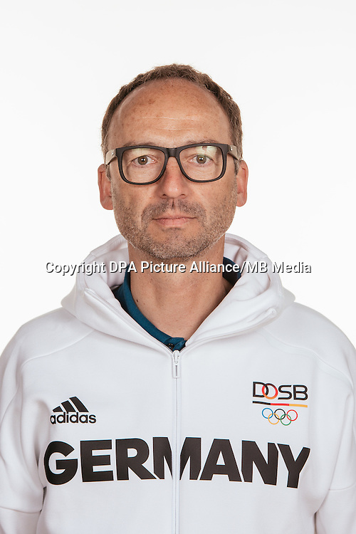 Thomas Krone poses at a photocall during the preparations for the Olympic Games in Rio at the Emmich Cambrai Barracks in Hanover, Germany, taken on 12/07/16 | usage worldwide