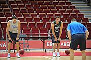 Danzica - Polonia 03 Agosto 2012 - Nazionale Italia Maschile Allenamento - <br /> Nella Foto : ANGELO GIGLI DANILO GALLINARI<br /> Foto Ciamillo