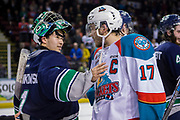KELOWNA, CANADA - APRIL 30:  End of the Season at the Kelowna Rockets game on April 30, 2017 at Prospera Place in Kelowna, British Columbia, Canada.  (Photo By Cindy Rogers/Nyasa Photography,  *** Local Caption ***