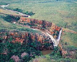 Reva Falls, on the Isdell River in the King Leopold Range, Kimberley, Western Australia.