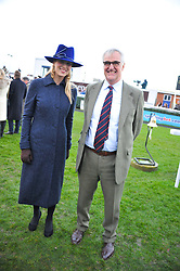 MAURICE-RICHARD HENNESSY and LADY GABRIELLA WINDSOR at the 2012 Hennessy Gold Cup at Newbury Racecourse, Berkshire on 1st December 2012