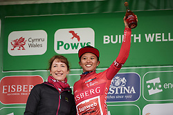 Coryn Rivera (USA) retains the sprint jersey on Stage 5 of 2019 OVO Women's Tour, a 140 km road race from Llandrindod Wells to Builth Wells, United Kingdom on June 14, 2019. Photo by Sean Robinson/velofocus.com