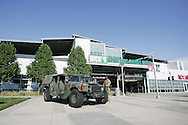 July 7th, 2013 - A US Military Humvee is parked outside the main gate for Military Appreciation Night before the Major League Soccer match between D.C. United and the Colorado Rapids at Dick's Sporting Goods Park in Commerce City, CO