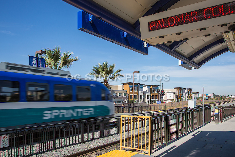 Palomar College Train Station in San Marcos California