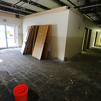 The entry of the Community Center at the Salvation Army in Tupelo is gutted due to renovations. The Carnation Street campus is getting a complete renovation after 30 years with the work predicted to be completed by the end of the month.