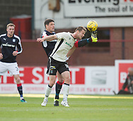 Dundee&rsquo;s Darren O&rsquo;Dea and Inverness&rsquo; Alex Fisher - Dundee v Inverness Caledonian Thistle in the Ladbrokes Scottish Premiership at Dens Park, Dundee, Photo: David Young<br /> <br />  - &copy; David Young - www.davidyoungphoto.co.uk - email: davidyoungphoto@gmail.com