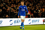 Leicester City midfielder Harvey Barnes in action during the Premier League match between Wolverhampton Wanderers and Leicester City at Molineux, Wolverhampton, England on 14 February 2020.