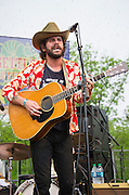 Langhorne Slim performing at the Old Settler's Music Festival, Austin, Texas, April 17, 2015.