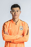 **EXCLUSIVE**Portrait of Chinese soccer player Zhou Haibin of Shandong Luneng Taishan F.C. for the 2018 Chinese Football Association Super League, in Ji'nan city, east China's Shandong province, 24 February 2018.