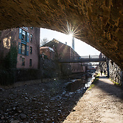 WASHINGTON, DC - MAR23: Pedestrians and joggers enjoy the towpath of the Chesapeake and Ohio (C&O) Canal in Georgetown, March 23, 2017.  There is no lighting along the canal. Georgetown Heritage, the National Park Service, and the DC Office of Planning are planning to upgrade the one mile stretch of the C&O Canal that runs through Georgetown to create a destination experience like the Highline in New York City. (Photo by Evelyn Hockstein/For The Washington Post)