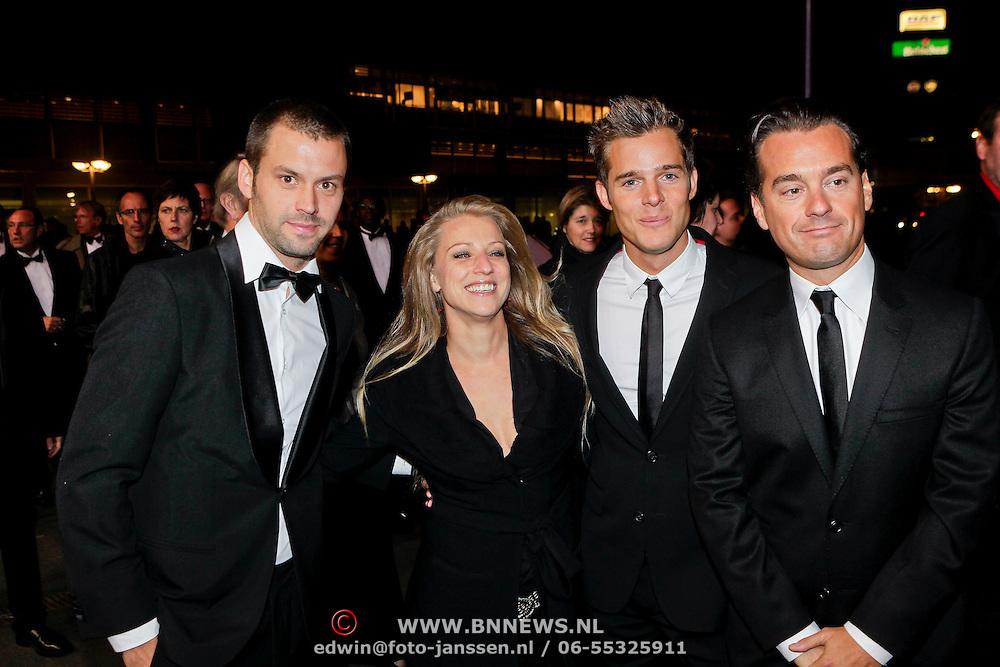 NLD/Amsterdam/20111017 - Premiere De Heineken Ontvoering, Daphne Flint, Rick van de Westelaken en partner