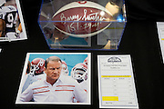 A football autographed by former Oklahoma University football coach Barry Switzer is up for auction with a buy it now price of $1,200 during Ski Plano, an annual fund-raising event for Plano ISD's education foundation, at Southfork Ranch on Saturday, January 26, 2013 in Parker, Texas. (Cooper Neill/The Dallas Morning News)