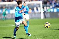 Atalanta-Napoli - Serie A 2017-18 - 21a giornata - Nella foto: Dries Mertens  - Napoli