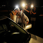 Ralph Wald kisses his wife Johnna Flores after Wald was released from Orient Road Jail Thursday, May 30, 2013 in Tampa. Wald was arrested on March 10 and charged with second-degree murder after shooting and killing his wife's lover Walter Conley.