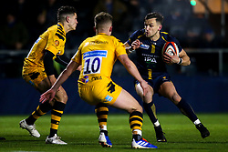 Luke Scully Jono Kitto takes on Sam Wolstenholme and Billy Searle of Wasps A - Mandatory by-line: Robbie Stephenson/JMP - 16/12/2019 - RUGBY - Sixways Stadium - Worcester, England - Worcester Cavaliers v Wasps A - Premiership Rugby Shield