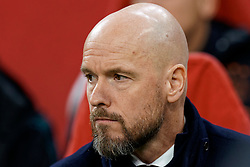 Coach Erik Ten Hag during the Europa League match R32 second leg between Ajax and Getafe at Johan Cruyff Arena on February 27, 2020 in Amsterdam, Netherlands
