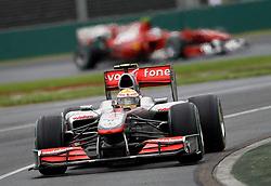 MELBOURNE, AUSTRALIA - Saturday, March 28, 2009: Lewis Hamilton (McLaren) during the Australian Grand Prix at the Melbourne Grand Prix Circuit. (Pic by Juergen Tap/Propaganda/Hoch Zwei)
