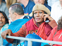 LONDON, ENGLAND - Wednesday, June 24, 2009: Actress and singer Grace Jones watches a Ladies' Singles 2nd Round match on day three of the Wimbledon Lawn Tennis Championships at the All England Lawn Tennis and Croquet Club. (Pic by David Rawcliffe/Propaganda)