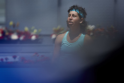 May 10, 2018 - Madrid, Madrid, Spain - Carla Suarez Navarro of Spain reacts in her match against  Caroline Garcia of France during day six of the Mutua Madrid Open tennis tournament at the Caja Magica on May 10, 2018 in Madrid, Spain  (Credit Image: © David Aliaga/NurPhoto via ZUMA Press)