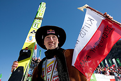 Third placed in  Ski Jumping World Cup overall classification Adam Malysz of Poland celebrates  when he retires of ski jumping career after the Flying Hill Individual at 4th day of FIS Ski Jumping World Cup Finals Planica 2011, on March 20, 2011, Planica, Slovenia. (Photo by Vid Ponikvar / Sportida)