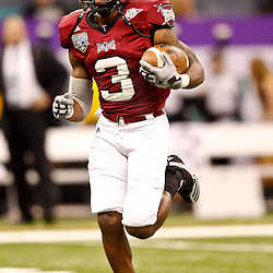 December 18, 2010; New Orleans, LA, USA; Troy Trojans wide receiver Jerrel Jernigan (3) during the 2010 New Orleans Bowl against the Ohio Bobcats at the Louisiana Superdome.  Mandatory Credit: Derick E. Hingle