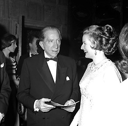 J.PAUL GETTY and MISS ROBINA LUND at a party at Sutton Place in Surrey on 22nd April 1967.