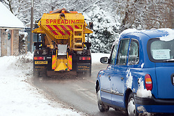 By 11:30AM gritters in Sheffield have cleared the A629 Cowley Lane Chapeltown of snow as they combat the most widespread Snows to hit Britain for 20 years..1st December 2010.Images © Paul David Drabble