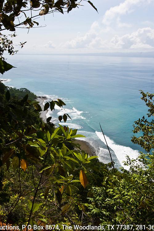 Pacific Ocean from the Bosque del Cabo resort, Osa Peninsula, southern Costa Rica.