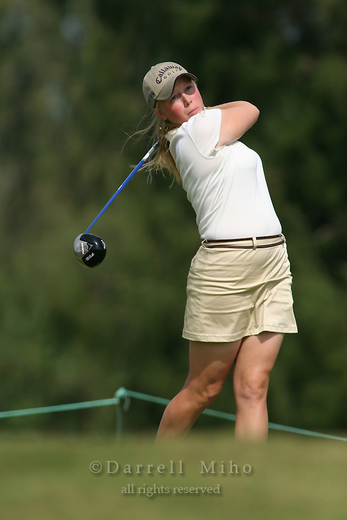February 18, 2006; Kahuku, HI - Morgan Pressel tees off during the final round of the LPGA SBS Open at Turtle Bay Resort...Mandatory photo credit: Darrell Miho.© Darrell Miho