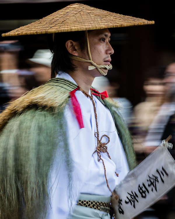 The Jidai Matsuri is a festival in Kyoto where people dress up as japanese historic figures and go on a procession through the city's streets