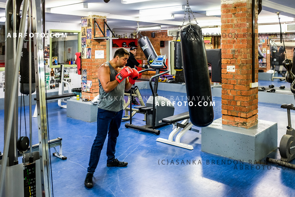 Andrew Murray Clarke in the gym during an open day at the Aboriginal Youth Sport and Recreation centre on Gertrude Street in Melbourne, Australia, September 1, 2017. Inspired by his elders Andrew wants to be a community leader for the Aboriginal youth. Asanka Brendon Ratnayake for the New York Times