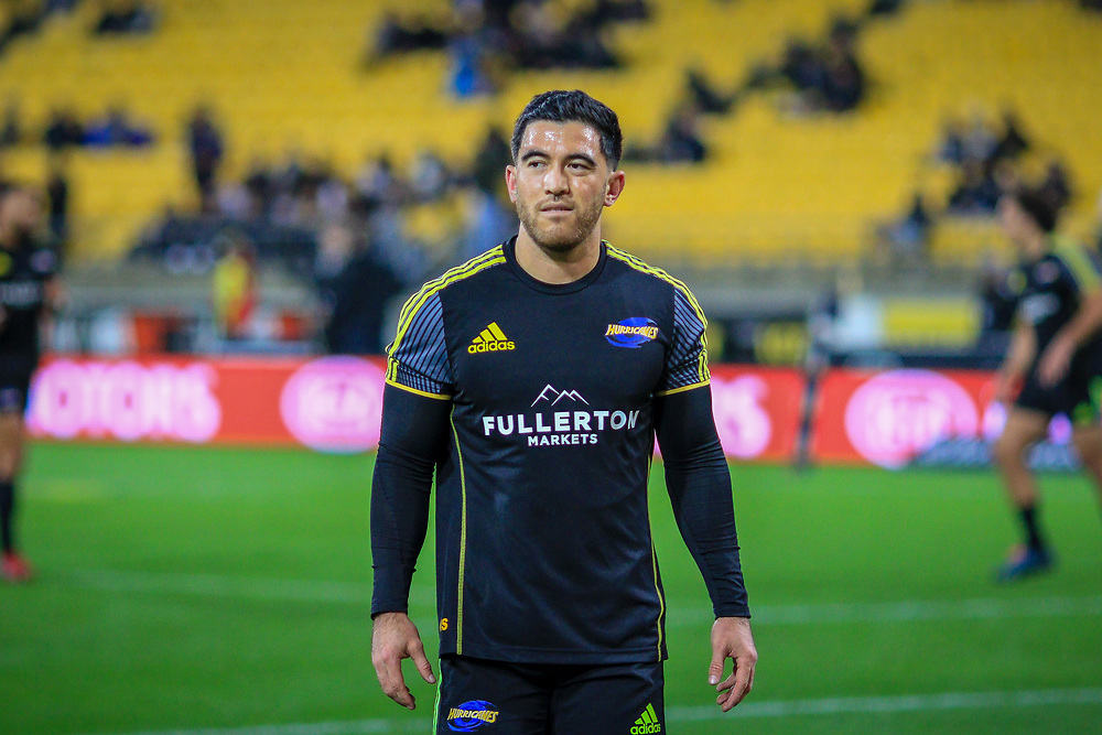 Nehe Milner-Skudder warming-up before the Super rugby union game (Round 14) played between Hurricanes v Reds, on 18 May 2018, at Westpac Stadium, Wellington, New  Zealand.    Hurricanes won 38-34.