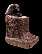 Block statue of the steward Senemut and the princess Nefrure. 18th dynasty, 1475 BC Karnak Granite