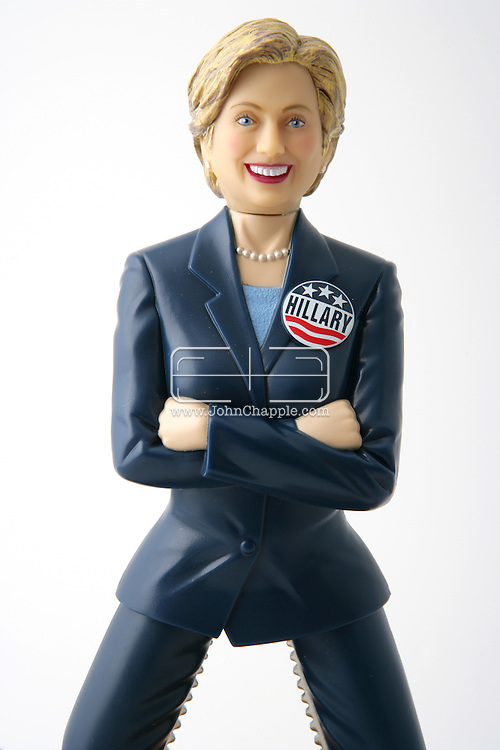 4th September 2007, Los Angeles, California. Former First Lady and Presidential hopeful, Hilary Clinton had a reputation as being a nutcracker. Now you can own your own nine-inch, Hilary Clinton nutcracker, complete with serrated, stainless steel thighs able to crack even the toughest nuts. The novelty nutcracker, available at www.hillarynutcracker.com for US$19.95 is not recommended for people without a sense of humor, Bill or children under 12 years of age..PHOTO © JOHN CHAPPLE / REBEL IMAGES.t: 310 570 9100.john@chapple.biz      www.chapple.biz