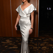 Aleksandra Stepanets of Stepanets Fashion House attend the Grand Final MISS USSR UK 2019 at on On Park Lane on 27 April 2019, London, UK.