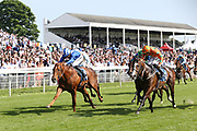 I AM A DREAMER (1) ridden by jockey Harry Bentley and trained by Mark Johnston winning The Yorkshire Regiment British EBF Novice Median Auction Stakes over 6f (£15,000) at York Racecourse, York, United Kingdom on 26 May 2018. Picture by Mick Atkins.